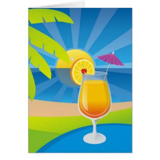 Tequila Sunrise Recipe Greeting Card