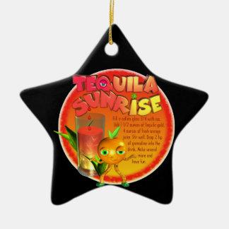 Tequila Sunrise recipe Ceramic Star Decoration
