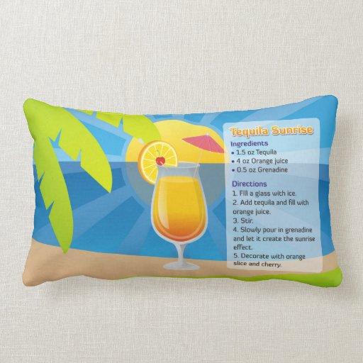 Tequila Sunrise Recipe Pillow