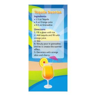 Tequila Sunrise Recipe Custom Rack Card