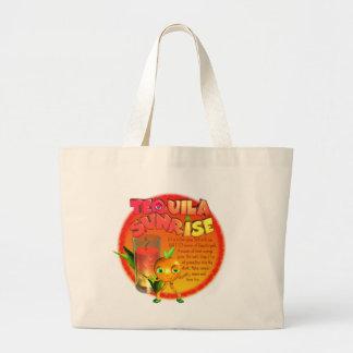 Tequila Sunrise recipe Jumbo Tote Bag