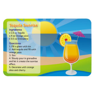 Tequila sunrise recipe magnet