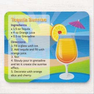 Tequila Sunrise Recipe Mousepad