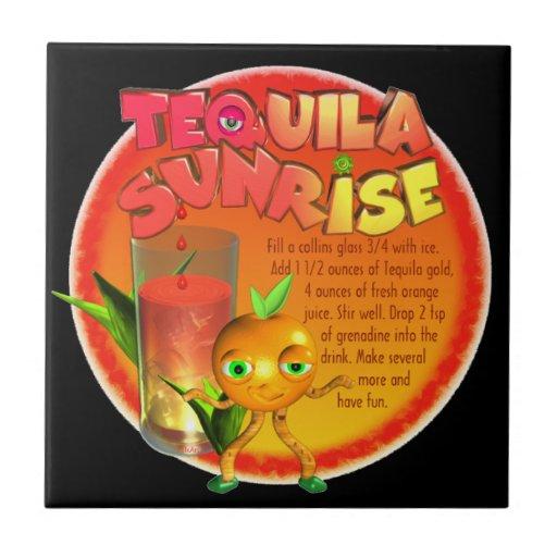Tequila Sunrise recipe Tiles