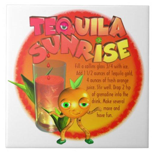 Tequila Sunrise recipe Tile