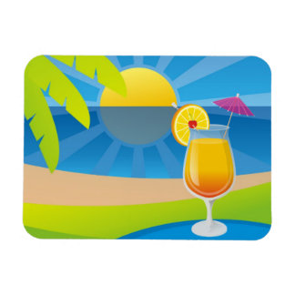 Tequila Sunrise Rectangular Photo Magnet