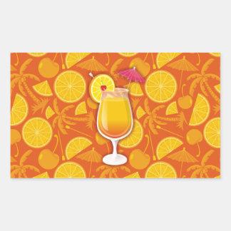 Tequila sunrise rectangular sticker