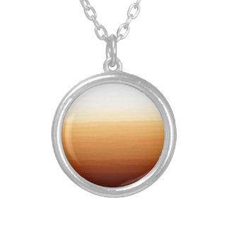 Tequila Sunrise Round Pendant Necklace