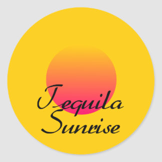 Tequila Sunrise Round Sticker
