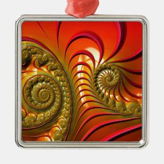 Tequila Sunrise Silver-Colored Square Decoration