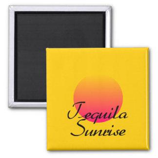 Tequila Sunrise Square Magnet