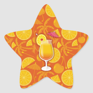 Tequila sunrise star sticker