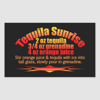 Tequila Sunrise stickers