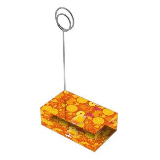 Tequila sunrise table card holder