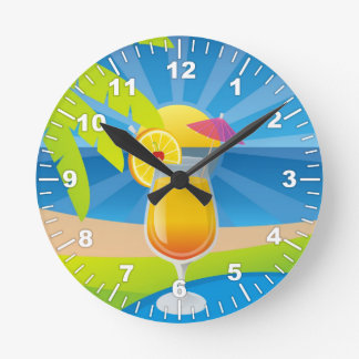 Tequila sunrise wall clocks