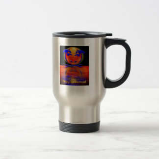 `tequila sunset` stainless steel travel mug