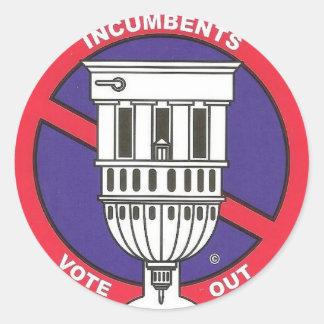 Term limit anti incumbent  sticker