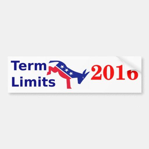 Term Limits 2016 Bumper Stickers