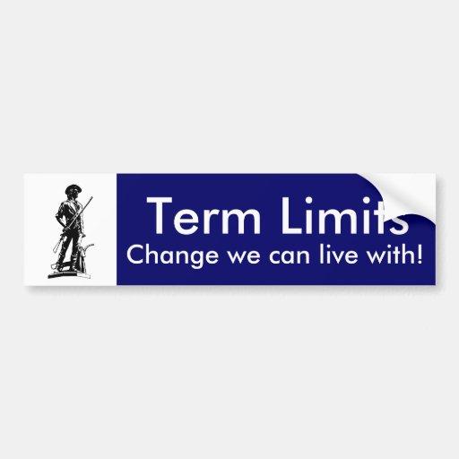Term Limits Bumper Stickers