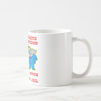 Term Limits For Congress 1 In Office & 1 In Jail Basic White Mug