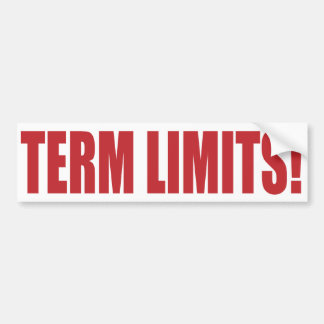 Term Limits NOW! Bumper Stickers