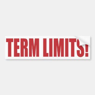 Term Limits NOW! Bumper Stickers