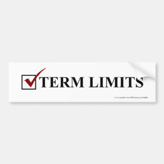 Term Limits, Vote - Bumper Bumper Sticker