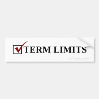 Term Limits, Vote - Bumper Bumper Sticker