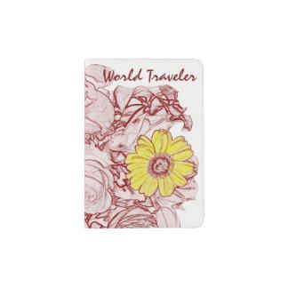 Terra  Cotta Edged Bouquet Passport Holder