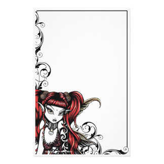 """Terra"" Gothic Tattoo Fairy Art Stationery"