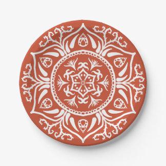 Terracotta Mandala Paper Plate