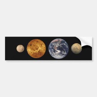 Terrestrial Planet Size Comparison Sticker