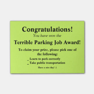 Terrible Parking Post-it Post-it® Notes