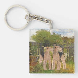 Terriers on the Farm Key Ring