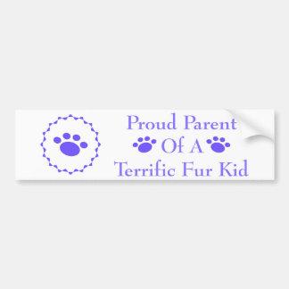 Terrific Fur Kid #111 Bumper Sticker