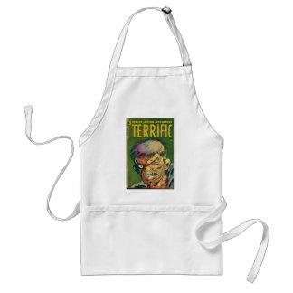 Terrific horror comic book standard apron