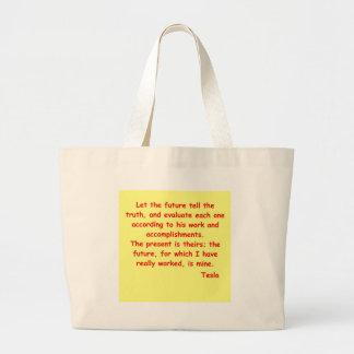 tesla2 large tote bag