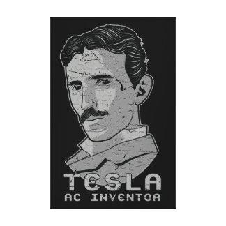 Tesla AC Inventor Dark Canvas Print