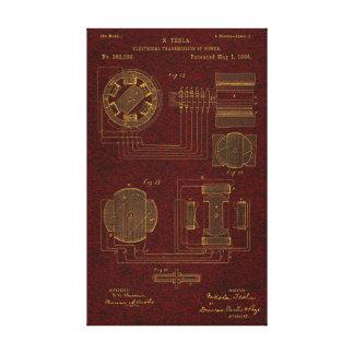Tesla Patent 00382280 Sht 3 Canvas Print