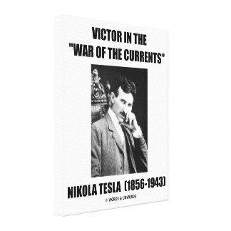 Tesla Victor In the War Of The Currents Physics Canvas Print