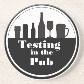 Testing In The Pub branded merchandise Drink Coaster