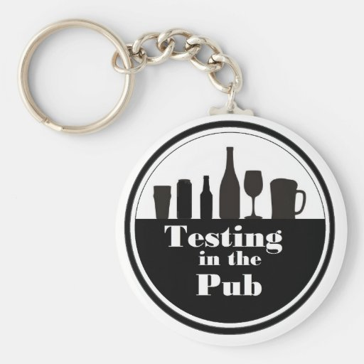 Testing In The Pub branded merchandise Key Chains