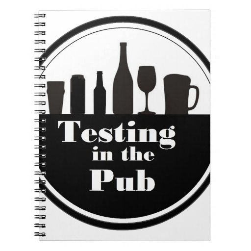 Testing In The Pub branded merchandise Spiral Note Books