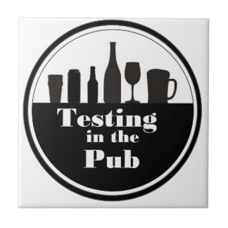 Testing In The Pub branded merchandise Small Square Tile