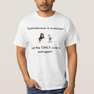 Testosterone is a poison tshirts