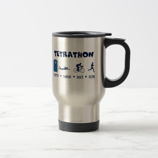 Tetrathon Triathlon T-shirt Mug