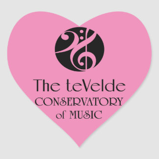 teVelde Conservatory of Music Heart Stickers
