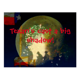Texan's cast a big shadow postcard
