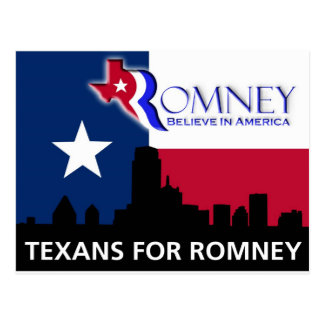 Texans for Mitt Romney Postcard