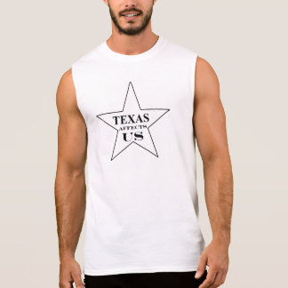 TEXAS AFFECTS US men's Sleeveless Shirt